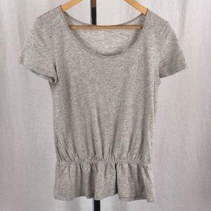 JOE FRESH grey peplum T-shirt